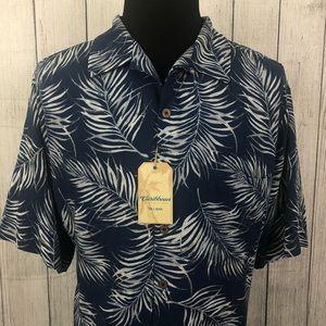 Caribbean 2XT Blue Hawaiian Silk Blend Shirt